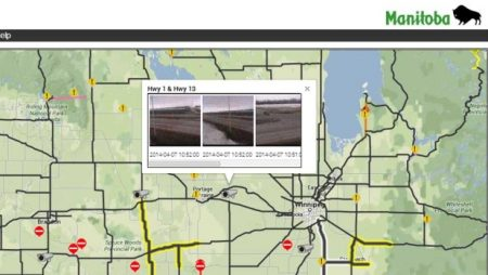 New highway cameras show conditions on Manitoba roads